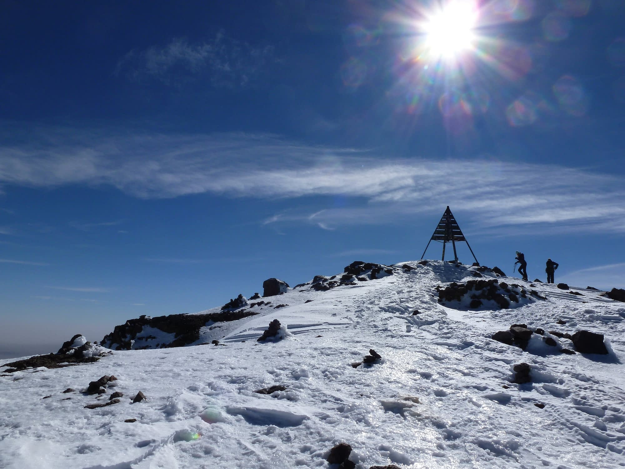 climb toubkal in winter